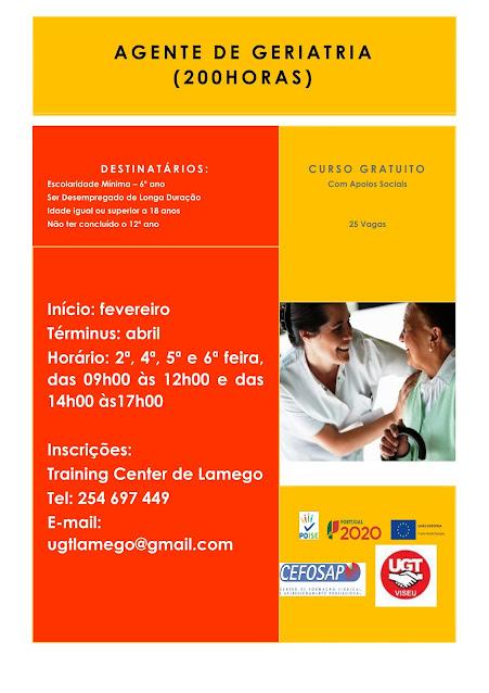 Formação financiada para empregados - UGT Lamego