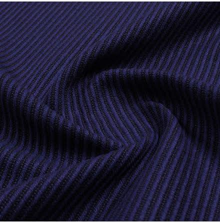 Diagonal Inredningstyg - blå/brun