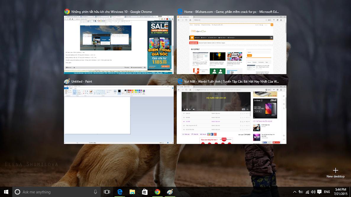 Những phím tắt hay cho Windows 10 2