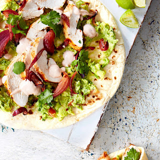 Chipotle Chicken and Avocado Flatbreads.