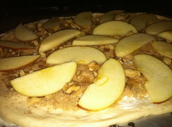 Cut the apple in half, cut very thin slices.  Place the slices all...