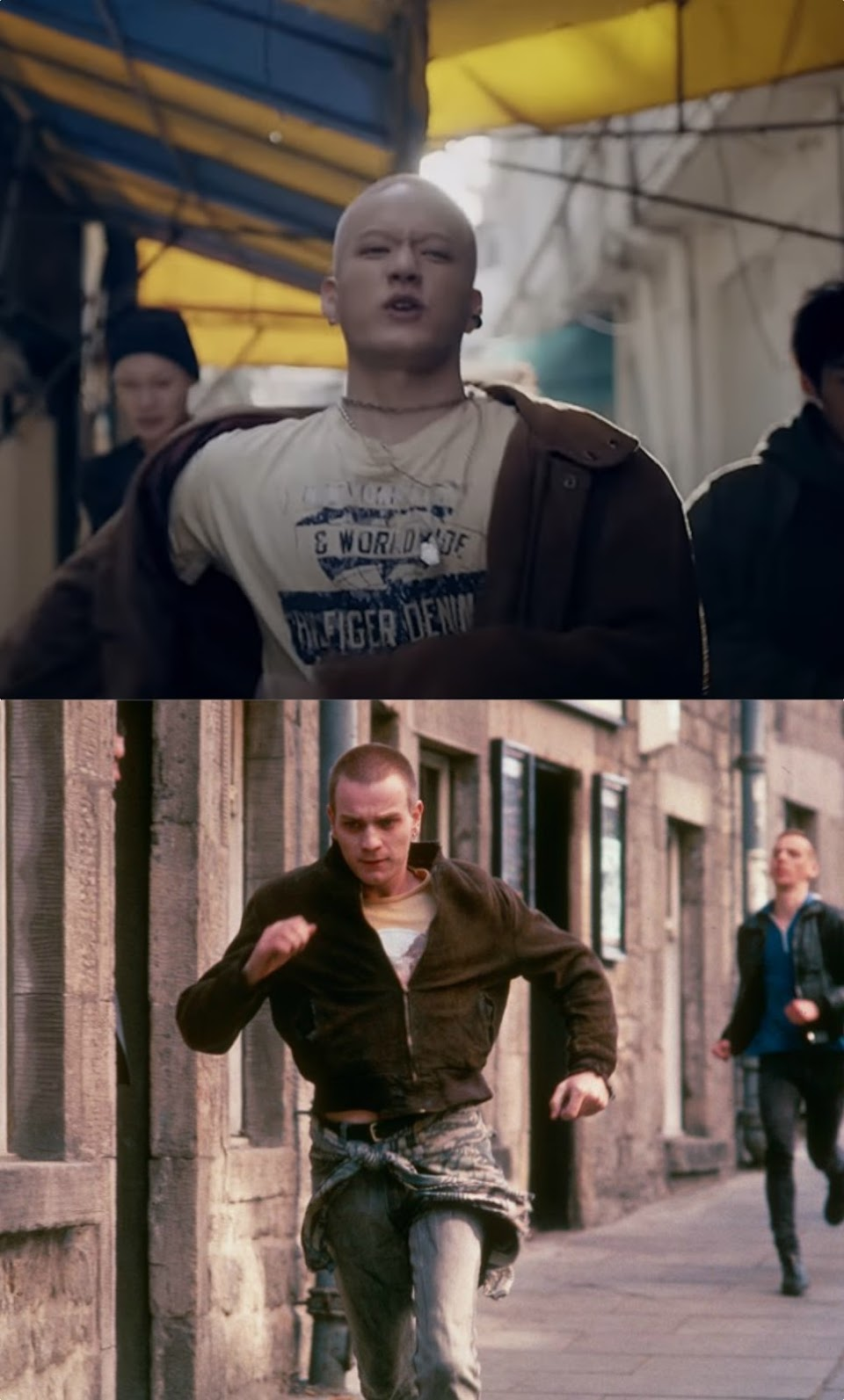 trainspotting collage