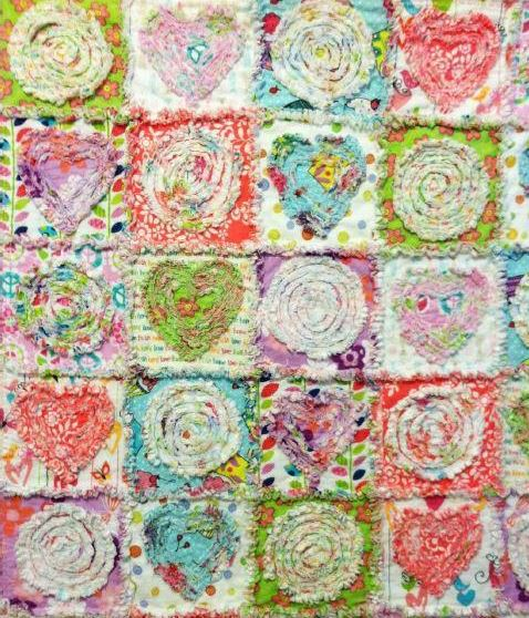 Summer in the Park Rag Quilt - Pattern on Craftsy