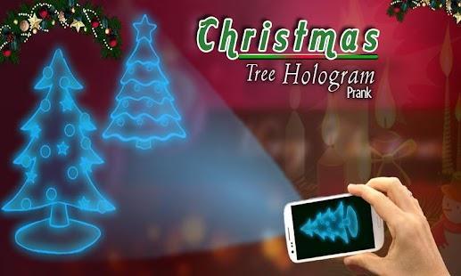 christmas tree hologram prank nhled