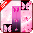 Pink Butterfly Piano Tiles 2018 icon