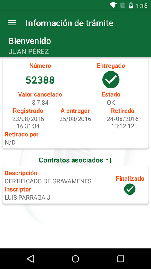 Registro Mobile Esmeraldas- screenshot
