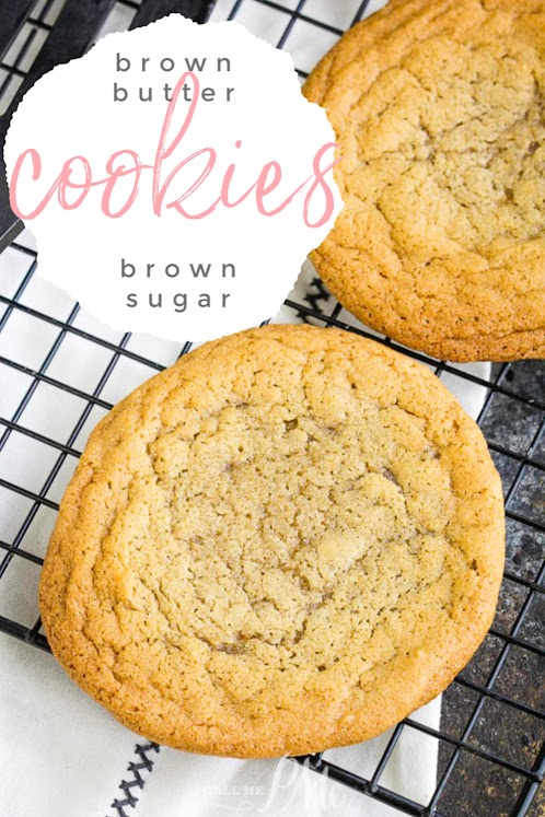 Browned Butter Brown Sugar Cookie Recipe