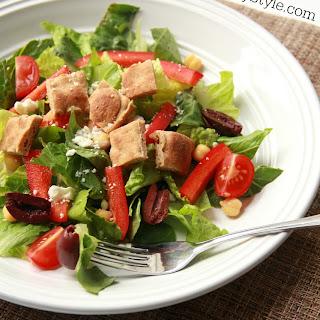 Greek Salad with pita croutons