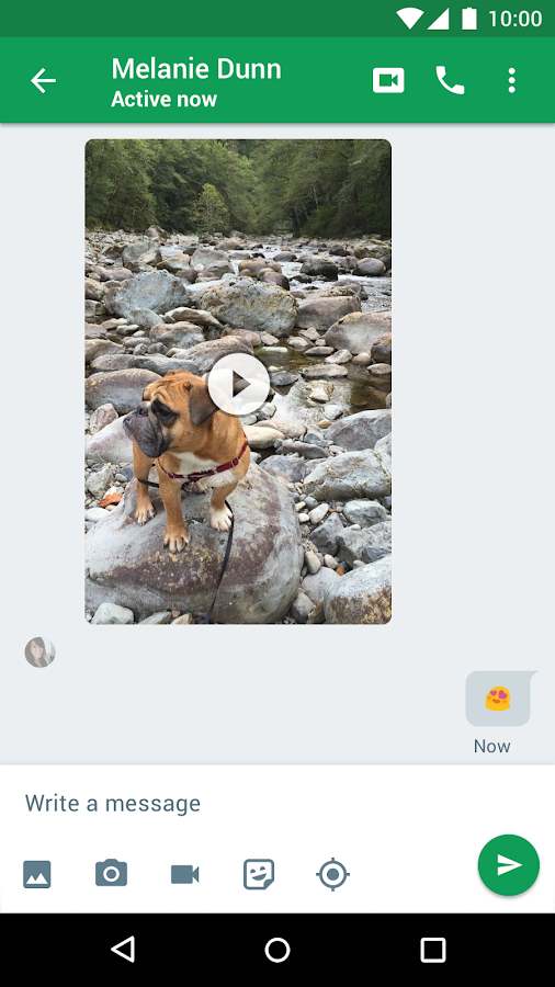 Screenshots of Hangouts for iPhone