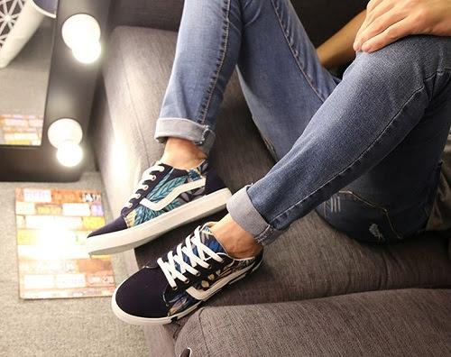 Giày vải buộc dây nam thời trang