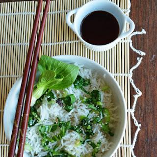 Bok Choy Fried Rice with Basmati Rice.
