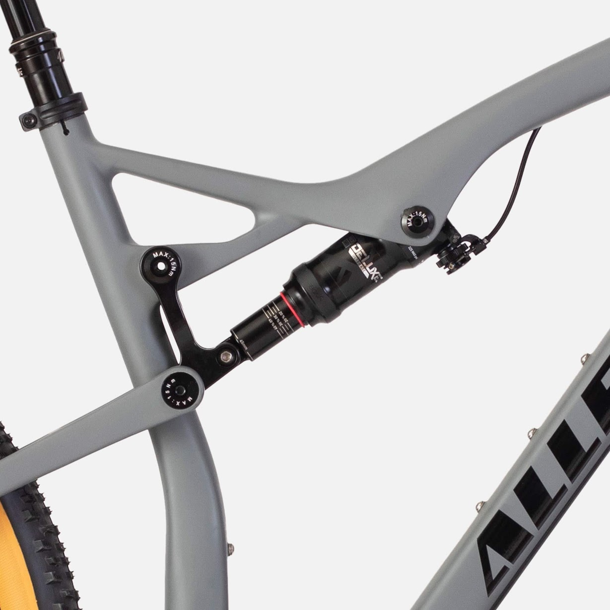 Allebike Alpha XT är utrustad med en progressiv bakdämpare.