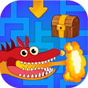 Maze game for kids free. Labyrinth with Dragons! icon