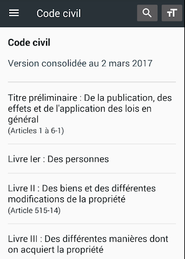 Code civil 2019 (France) 0.38 screenshots 1
