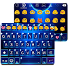 Bling Blue Emoji Keyboard Skin