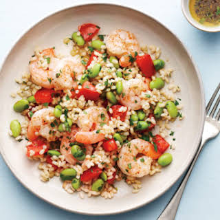 Shrimp With Brown Rice and Edamame.