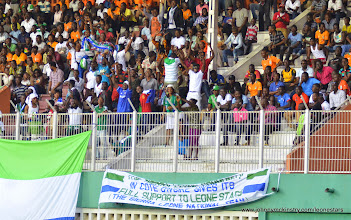 Photo: Sierra Leone disapora fans in the Ivory Coast   [Leone Stars v Ivory Coast, 6 September 2014 (Pic © Darren McKinstry / www.johnnymckinstry.com]