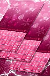Pink Christmas Keyboard Theme - náhled