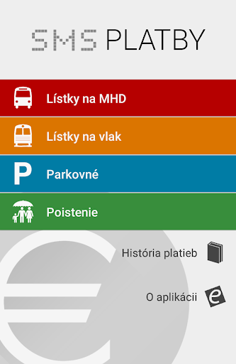 SMS platby - MHD parkovne