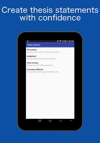 android Thesis Generator Screenshot 3
