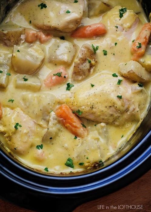 Click Here for Recipe: Crock Pot Creamy Ranch Chicken