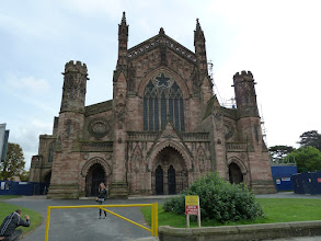 Photo: Our destination: Hereford Cathedral, 1000 years old.
