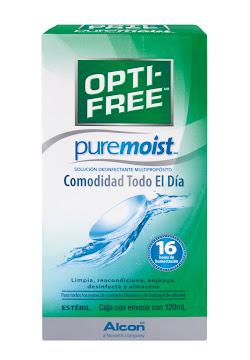 Solución Para Lentes   Opti-Free Pure Moist Desinfectante X120Ml.