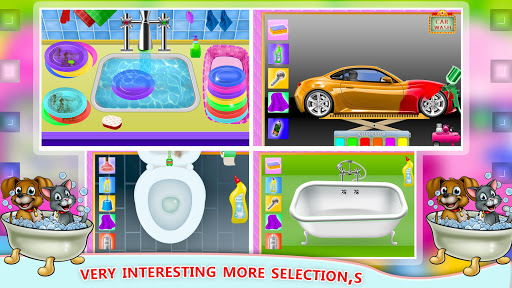 Elsa Home Cleaning Gamesu2013 Garage Dust Clean Up- apktram screenshots 6