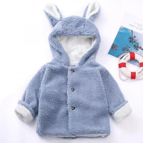 Toddler Unisex Little Bunny Fur Hooded Coat