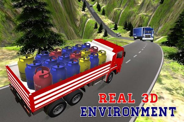 Offroad cargo truck driver - screenshot
