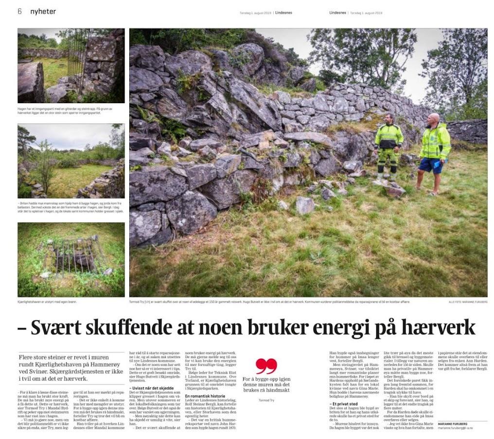 Artikkel fra Lindesnes avis