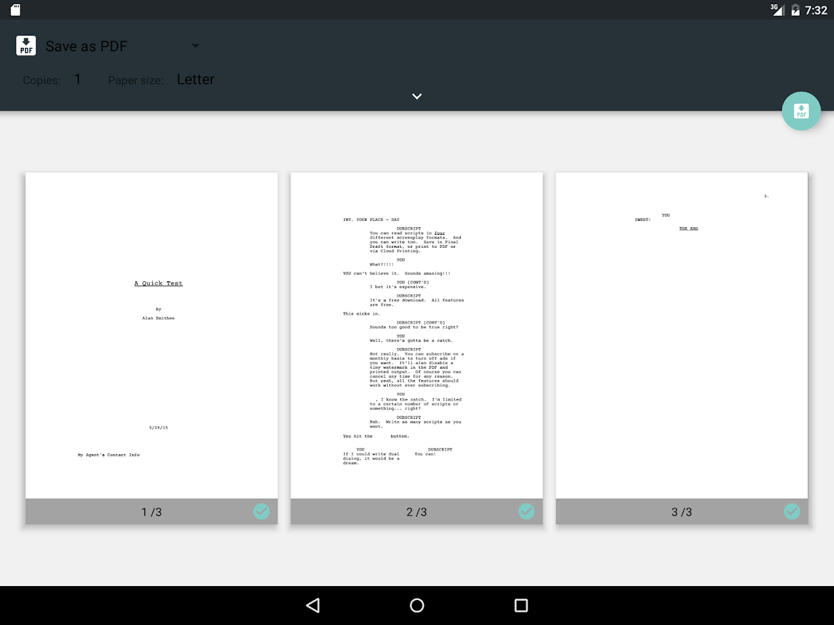 DubScript Screenplay Writer- screenshot