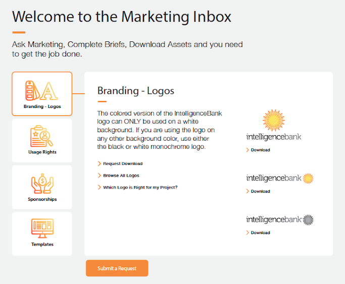 Marketing Inbox. Source: IntelligenceBank