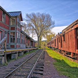 Nevada City Train Station by Twin Wranglers Baker - Transportation Railway Tracks (  )