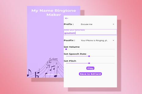 App My Name Ringtone Maker - अपने नाम की रिंगटोन APK for Windows Phone