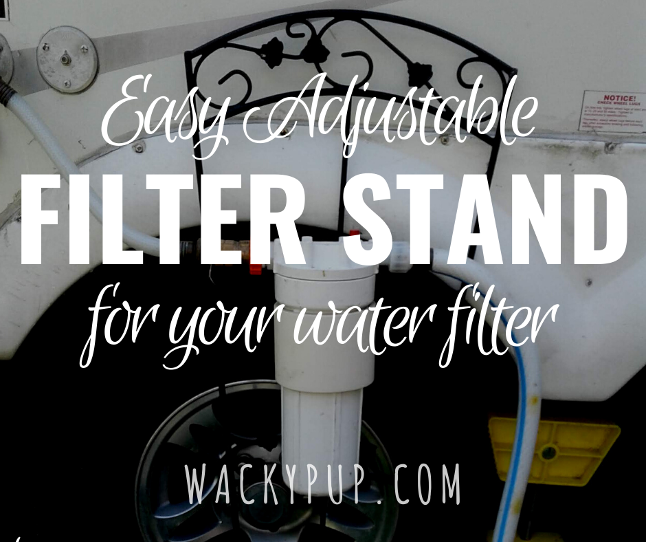 Attractive DIY Water Filter Stand Tutorial by Wacky Pup - Pin it for later!