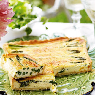 Brie And Asparagus Tart With Parmesan Pastry.