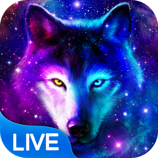 Night Sky Wolf Live Wallpaper Apps On Google Play