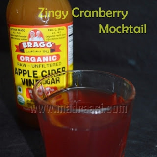 Zingy Cranberry Mocktail
