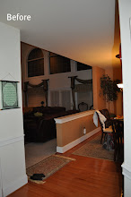 Photo: (Before) Breakfast room half wall Toll Brothers  Northampton, PA