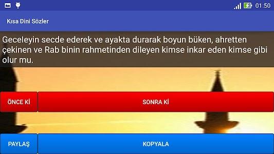 Kısa Dini Sözler screenshot 5