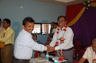 Photo: Com,Prasannakumar welcomes Sri.N Chandrashekar Sr.GM(Mktg)