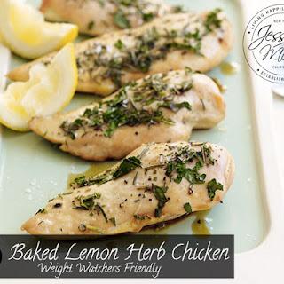 Baked Lemon Herb Chicken - Weight Watchers