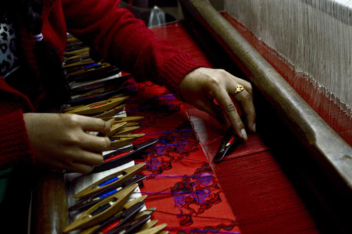 Myanmar-local - Local weaving was magnificent -- an art perfected over centuries.
