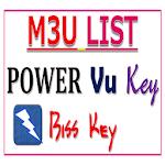M3U LIST-PowerVu KEY OR Biss KEY 10.0
