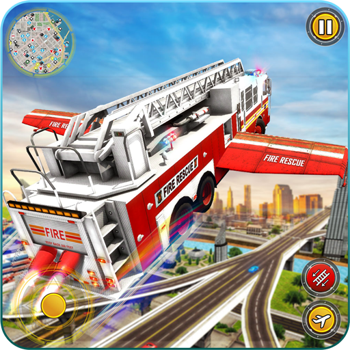Flying Firefighter Truck Simulator 2019