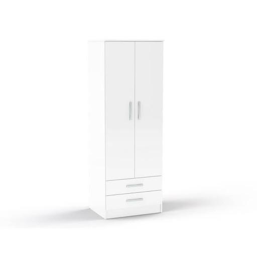 Birlea Lynx 2 Door 2 Drawer Robe White