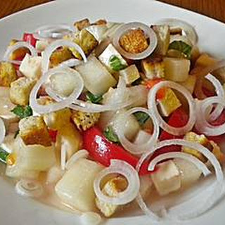 Tomato Melon Feta Salad
