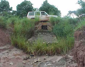 Photo: MAD-HYDR02 Madagascar - A culvert in a rural road that annually disappeared. Once stabilized with vetiver, this last one has withstood 3 cyclones and 8 rainy seasons
