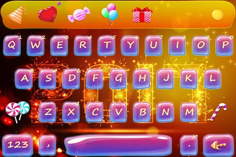 Happy 2017 New Year Keyboard Theme - náhled
